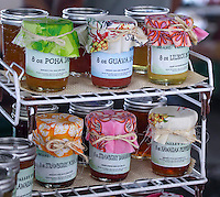 Jams sold at the Hilo Farmers Market