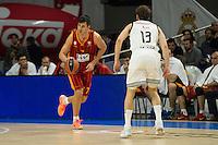 Real Madrid´s Sergio Rodriguez and Galatasaray´s Erceg during 2014-15 Euroleague Basketball match between Real Madrid and Galatasaray at Palacio de los Deportes stadium in Madrid, Spain. January 08, 2015. (ALTERPHOTOS/Luis Fernandez) /NortePhoto /NortePhoto.com