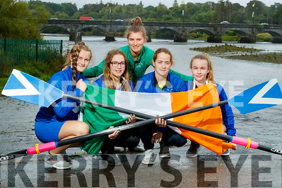 Monika Dukarska on her way to achieving her Olympic ambition for Ireland in the 2020 Tokyo Olympics pictured at Killorglin Rowing club with young rowers Airida Mateviciute, Anna Tyther, Rhiannon O'Donoghue Laoise Murphy.