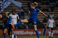 Seattle, WA - April 15th, 2017: Beverly Yanez during a regular season National Women's Soccer League (NWSL) match between the Seattle Reign FC and Sky Blue FC at Memorial Stadium.