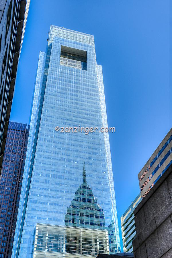 Comcast Center is a skyscraper in Center City, Philadelphia PA, Pennsylvania, City, United States,