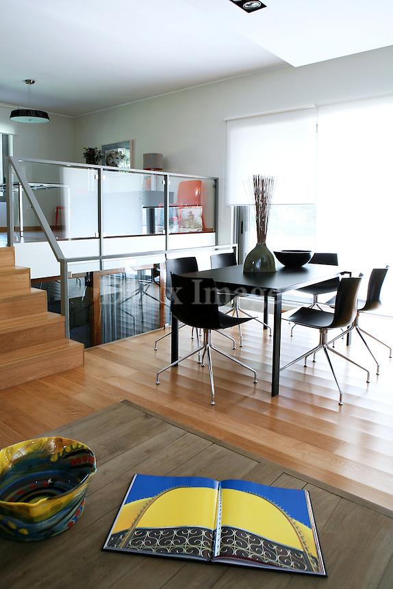 modern bright dining room