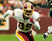 Landover, Maryland - November 27, 2005 -- Washington Redskins wide receiver Santana Moss (89) runs a pass pattern that resulted in a 22 yard touchdown reception in the second quarter against the San Diego Chargers at FedEx Field in Landover, Maryland on November 27, 2005.  The Redskins lost the game 23-17 in overtime..Credit: Ron Sachs / CNP