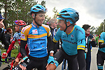 Sergei Chernetski Astana Pro Team wins the overall general classification at the end of Stage 4 of the 2018 Artic Race of Norway, running 145.5km from Kvalsund to Alta, Norway. 18th August 2018. <br /> <br /> Picture: ASO/Gautier Demouveaux | Cyclefile<br /> All photos usage must carry mandatory copyright credit (&copy; Cyclefile | ASO/Gautier Demouveaux)