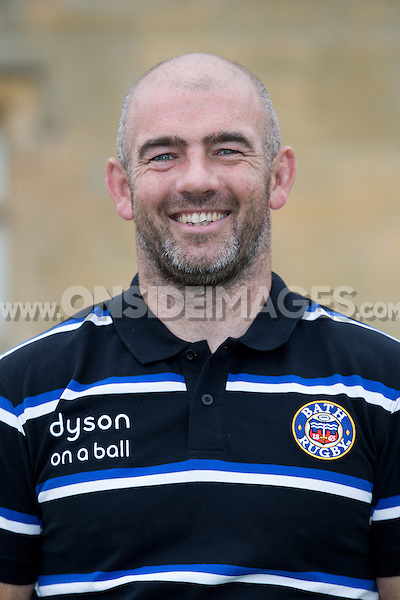 Allan Ryan, High Performance Manager poses for a portrait at a Bath Rugby photocall. Bath Rugby Media Day on August 28, 2014 at Farleigh House in Bath, England. Photo by: Rogan Thomson for Onside Images