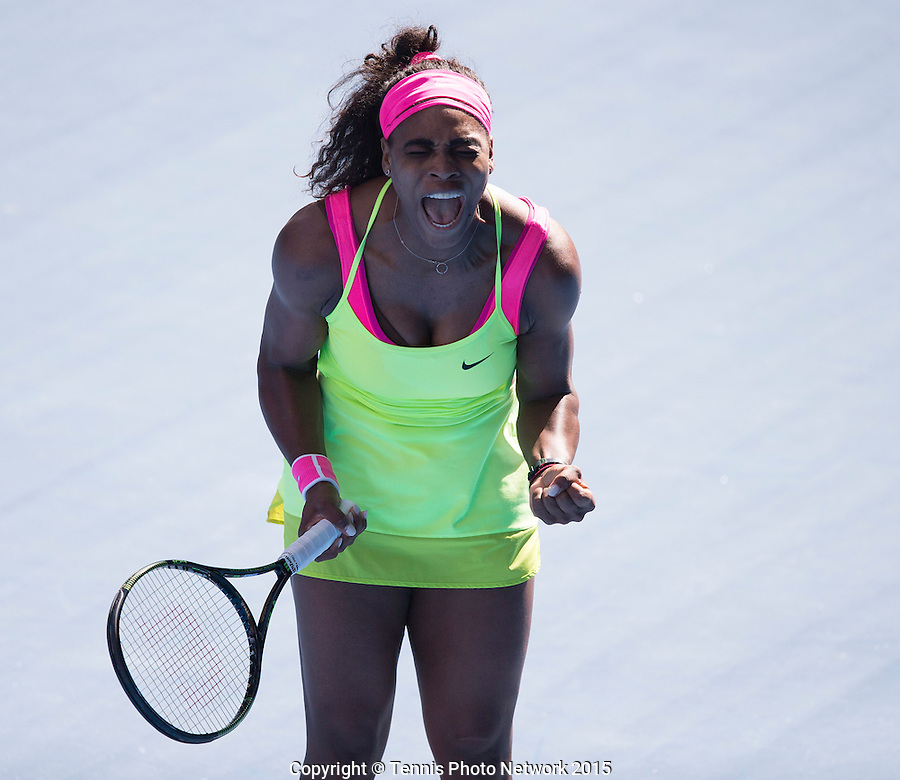SERENA WILLIAMS (USA)<br /> <br /> Tennis - Australian Open 2015 - Grand Slam -  Melbourne Park - Melbourne - Victoria - Australia  - 29 January 2015. <br /> &copy; AMN IMAGES