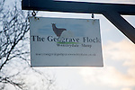 Sign for the Gedgrave Flock of Wensleydale sheep, Suffolk, England