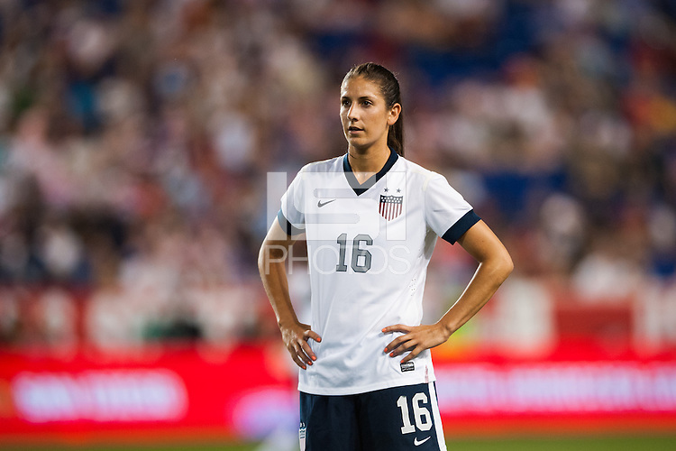 United States (USA) midfielder Yael Averbuch (16). The women's national team of the United States defeated the Korea Republic 5-0 during an international friendly at Red Bull Arena in Harrison, NJ, on June 20, 2013.