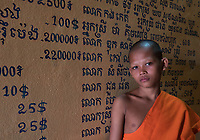 Portrait of Buddhist Monk, Siem Reap, Tonle Sap Lake, Cambodia,
