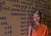 Portrait of Buddhist Monk, Siem Reap, Tonle Sap Lake, Cambodia,
