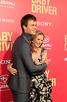 "LOS ANGELES - JUN 14:  Ansel Elgort, Grethe Barrett Holby at the ""Baby Driver"" Premiere at the The Theater at Ace Hotel on June 14, 2017 in Los Angeles, CA"