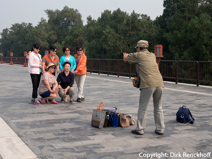 im Himmelstempel Park, Peking, China, Asien, UNESCO-Weltkulturerbe<br /> Park of temple of Heaven, Beijing, China, Asia, world heritage