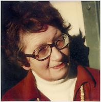 Doris Lusk, artist (1916-1990) Polaroid SX-70 photograph c.1976.