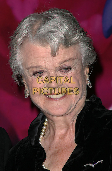 ANGELA LANSBURY.Americans For The Arts Awards 2010 National Art Awards held at Cipriani, New York, NY, USA..October 18th, 2010.headshot portrait black pearl necklace smiling.CAP/ADM/PZ.©Paul Zimmerman/AdMedia/Capital Pictures.