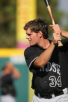 August 9 2009: Conor Gillaspie of the San Jose Giants before game against the Rancho Cucamonga Quakes at The Epicenter in Rancho Cucamonga,CA.  Photo by Larry Goren/Four Seam Images