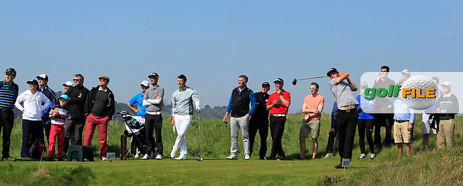 Marco Penge (ENG) on the 17th tee during Round 4 of the Flogas Irish Amateur Open Championship at Royal Dublin on Sunday 8th May 2016.<br /> Picture:  Thos Caffrey / www.golffile.ie