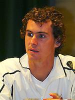 21-9-06,Leiden, Tennis,  Daviscup, Draw, Hernych