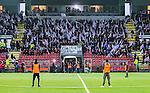 S&ouml;dert&auml;lje 2014-04-07 Fotboll Superettan Assyriska FF - Hammarby IF :  <br /> Assyriskas supportrar med en banderoll med texten &quot;Vila i frid Stefan&quot; med anledning av den Djurg&aring;rdssupporter som avled i samband med allsvenska premi&auml;ren mellan Helsingborg och Djurg&aring;rden<br /> (Foto: Kenta J&ouml;nsson) Nyckelord:  Assyriska AFF S&ouml;dert&auml;lje Hammarby HIF Bajen supporter fans publik supporters
