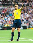 Stockholm 2015-08-24 Fotboll Allsvenskan Djurg&aring;rdens IF - Hammarby IF :  <br /> domare Martin Str&ouml;mbergsson under matchen mellan Djurg&aring;rdens IF och Hammarby IF <br /> (Foto: Kenta J&ouml;nsson) Nyckelord:  Fotboll Allsvenskan Djurg&aring;rden DIF Tele2 Arena Hammarby HIF Bajen portr&auml;tt portrait domare referee ref