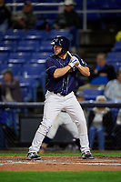 Binghamton Rumble Ponies left fielder Kevin Taylor (12) at bat during a game against the Portland Sea Dogs on August 31, 2018 at NYSEG Stadium in Binghamton, New York.  Portland defeated Binghamton 4-1.  (Mike Janes/Four Seam Images)