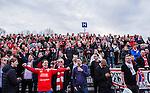V&auml;llingby 2014-03-30 Fotboll Allsvenskan IF Brommapojkarna - Kalmar FF :  <br /> Kalmar supportrar p&aring; Grimsta IP under matchen<br /> (Foto: Kenta J&ouml;nsson) Nyckelord:  BP Brommapojkarna Grimsta Kalmar KFF supporter fans publik supporters