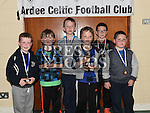 Players from The Ardee Celtic Under 8 Green with their medals at the Ardee Celtic annual awards night in Ardee parish centre. Photo:Colin Bell/pressphotos.ie