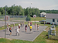 Group of people playing basketball