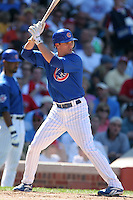 Chicago Cubs second baseman Ryan Theriot during a game against the New York Mets at Wrigley Field on July 15, 2006 in Chicago, Illinois.  (Mike Janes/Four Seam Images)