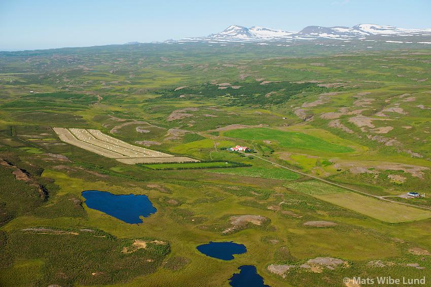 Tókastaðir séð til norðausturs, Fljótsdalshérað áður Eiðahreppur /  Tokastadir viewing northeast, Fljotsdalsherad former Eidahreppur.