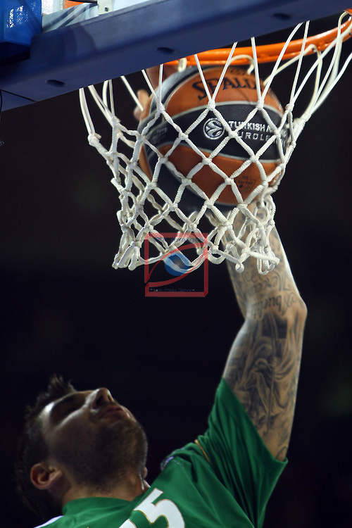 Euroleague Basketball-Regular Season Round 5.<br /> FC Barcelona vs Panathinaikos Athens: 78-69.<br /> Esteban Batista.
