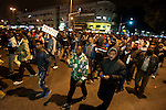 African asylum-seekers march through the streets of Tel Aviv, Israel, protesting against the governmental act to move all illegal African immigrants to a detention facility, and calling the Israeli government to grant them basic civil rights. Some held a sign with their prisoner's number, which they've initially received after arriving in Israel.