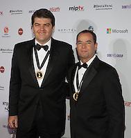 NEW YORK, NY - NOVEMBER 19: Clayton Conservani and Joao Pedro Paes Leme at the 40th International Emmy Awards in New York. November 19, 2012. © Diego Corredor/MediaPunch Inc. /NortePhoto