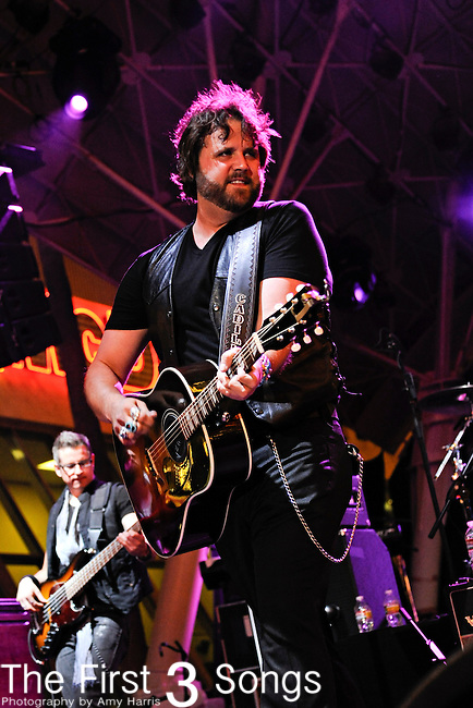 Randy Houser performs during the ACM Concerts at Fremont Street Experience Event in Las Vegas, Nevada on April 2, 2011.