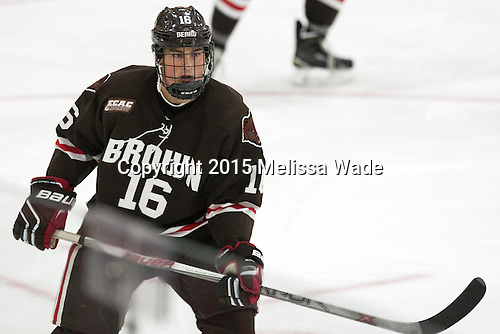 Charlie Corcoran (Brown - 16) - The Harvard University Crimson defeated the visiting Brown University Brown Bears 5-2 (EN) on Saturday, November 7, 2015, at Bright-Landry Center in Boston, Massachusetts.