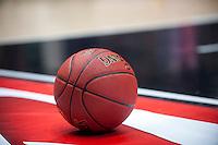 VALENCIA, SPAIN - OCTOBER 20: Match ball during EUROCUP match between Valencia Basket Club and CAI Zaragozaat Fonteta Stadium on   October 22, 2015 in Valencia, Spain