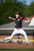 Batavia Muckdogs starting pitcher Travis Neubeck (13) during the second game of a doubleheader against the Auburn Doubledays on September 4, 2016 at Dwyer Stadium in Batavia, New York.  Batavia defeated Auburn 6-5. (Mike Janes/Four Seam Images)