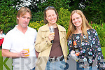 Enjoying the beer and wine tasting on the grounds of the Park Hotel in Kenmare on Saturday last as part of the Kenmare Food Carnival. .L-R Kevin Heffernan, Sarah Caulfield and Anita Heffernan.