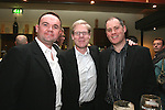 """Daniel O'Brien, Sean McGrath and Martin Lyons at """"Who Wants to be a Thousandaire"""" in aid of Le Cheile School at the Boyne Valley Hotel...Photo NEWSFILE/Jenny Matthews.(Photo credit should read Jenny Matthews/NEWSFILE)....This Picture has been sent you under the condtions enclosed by:.Newsfile Ltd..The Studio,.Millmount Abbey,.Drogheda,.Co Meath..Ireland..Tel: +353(0)41-9871240.Fax: +353(0)41-9871260.GSM: +353(0)86-2500958.email: pictures@newsfile.ie.www.newsfile.ie.FTP: 193.120.102.198."""