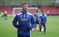 Bolton Wanderers' Gary Madine during the pre-match warm-up <br /> <br /> Photographer Rachel Holborn/CameraSport<br /> <br /> The Carabao Cup - Crewe Alexandra v Bolton Wanderers - Wednesday 9th August 2017 - Alexandra Stadium - Crewe<br />  <br /> World Copyright &copy; 2017 CameraSport. All rights reserved. 43 Linden Ave. Countesthorpe. Leicester. England. LE8 5PG - Tel: +44 (0) 116 277 4147 - admin@camerasport.com - www.camerasport.com