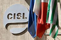 La sede della CISL<br /> Roma 29-09-2014 Sede della CISL. Incontro tra i sindacati sulla riforma del Lavoro<br /> Photo Samantha Zucchi Insidefoto