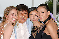 "Laura Weissbecker, Jackie Chan, Yao Xingtong and Zhang Lan Xin attending the ""Chinese Zodiac"" Photocall during the 65th annual International Cannes Film Festival in Cannes, France, 18th May 2012...Credit: Timm/face to face /MediaPunch Inc. ***FOR USA ONLY***"