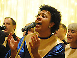 The Mornington Gospel Choir performing at their concert in the Glenside hotel. Photo: Colin Bell/pressphotos.ie