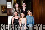 Front l-r Lauren Doody, Katie Nix, Rachel Foley.  Back l-r Katelyn Pierce enjoying Colin Doody's 18th Birthday at the Imperial Hotel on Saturday