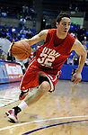 14 January 2009:  Utah guard, Tyler Kepkay (32), drives the baseline during the Utes 57-36 victory over Mountain West Conference rival Air Force at Clune Arena, U.S. Air Force Academy, Colorado Springs, Colorado.