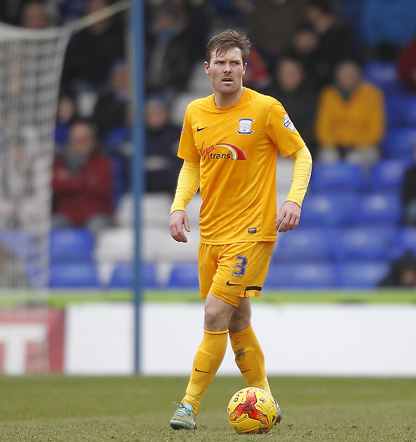Preston North End's Scott Laird<br /> <br /> Photographer Mick Walker/CameraSport<br /> <br /> Football - The Football League Sky Bet League One - Oldham Athletic v Preston North End - Saturday 28th February 2015 - SportsDirect.com Park - Oldham<br /> <br /> &copy; CameraSport - 43 Linden Ave. Countesthorpe. Leicester. England. LE8 5PG - Tel: +44 (0) 116 277 4147 - admin@camerasport.com - www.camerasport.com