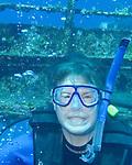 "Rick, on the sunken wreck of the Chien Tong.  St. Eustatius (Statia), Netherlands Antilles......""St. Eustatius"" ""Saint Eustatius"" Statia Netherlands Antilles ""Lesser Antilles"" Caribbean underwater diving ocean SCUBA dive diver wreck sunken ship"