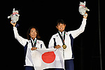 Ai Yoshida &  Miho Yoshioka (JPN), <br /> AUGUST 31, 2018 - Sailing : Women's 470 Race Victory ceremony at Indonesia National Sailing Center during the 2018 Jakarta Palembang Asian Games in Jakarta, Indonesia. <br /> (Photo by MATSUO.K/AFLO SPORT)