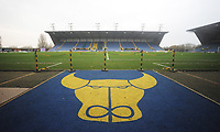 A general view of Kassam Stadium, home of Oxford United FC<br /> <br /> Photographer Kevin Barnes/CameraSport<br /> <br /> The EFL Sky Bet League One - Oxford United v Fleetwood Town - Tuesday 10th April 2018 - Kassam Stadium - Oxford<br /> <br /> World Copyright &copy; 2018 CameraSport. All rights reserved. 43 Linden Ave. Countesthorpe. Leicester. England. LE8 5PG - Tel: +44 (0) 116 277 4147 - admin@camerasport.com - www.camerasport.com