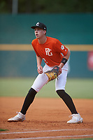 Max McGwire (12) of Capistrano Valley High School in Irvine, CA during the Perfect Game National Showcase at Hoover Metropolitan Stadium on June 18, 2020 in Hoover, Alabama. (Mike Janes/Four Seam Images)