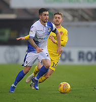 Bristol Rovers' Michael Kelly under pressure from Fleetwood Town's Conor McAleny<br /> <br /> Photographer Kevin Barnes/CameraSport<br /> <br /> The EFL Sky Bet League One - Bristol Rovers v Fleetwood Town - Saturday 22nd December 2018 - Memorial Stadium - Bristol<br /> <br /> World Copyright &copy; 2018 CameraSport. All rights reserved. 43 Linden Ave. Countesthorpe. Leicester. England. LE8 5PG - Tel: +44 (0) 116 277 4147 - admin@camerasport.com - www.camerasport.com